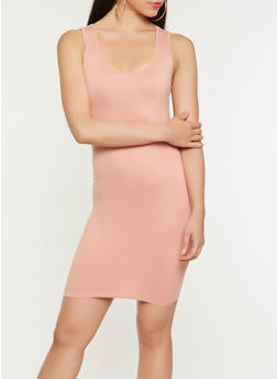 Solid Tank Dress - 3410066491646