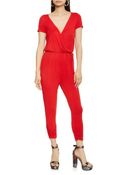 Faux Wrap Jumpsuit - 3410066492049