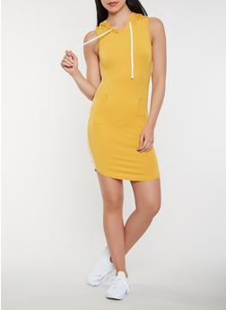Side Stripe Hooded Tank Dress - 3410066492208
