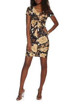 Soft Knit Twist Front Dress - 3410066492468