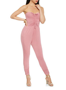 Ruched Tube Jumpsuit - 3410066492745