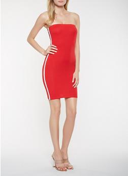 Varsity Stripe Tube Dress - 3410066492781