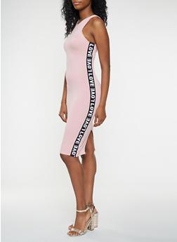 Love Graphic Tape Tank Dress - 3410066493060