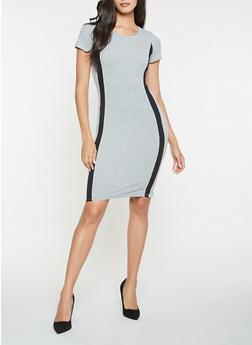 Contrast Trim T Shirt Dress - 3410066493105