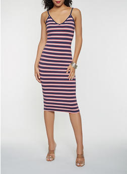 Striped Midi Tank Dress - 3410066493142