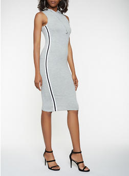 Side Tape Hooded Tank Dress - 3410066493241