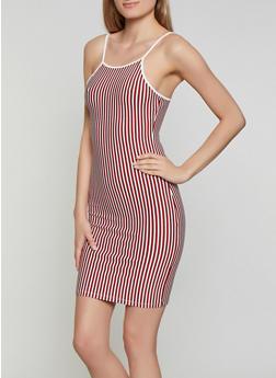 Striped Bodycon Cami Dress | 3410066494741 - 3410066494741