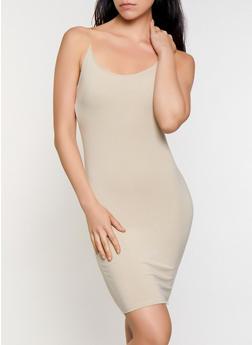 Solid Bodycon Cami Dress - 3410066495669