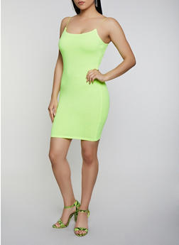 Solid Bodycon Cami Dress - 3410066495669