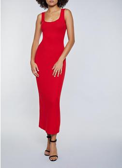 Ribbed Racerback Maxi Dress - 3410066495939
