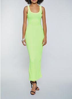 Ribbed Racerback Maxi Dress - 3410066495939