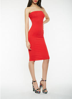 Solid Tube Dress - 3410066496295