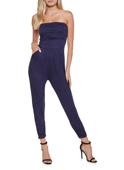 Ruched Tube Jumpsuit - 3410066496436