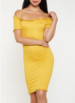 Smocked Off the Shoulder Dress - 3410066499270