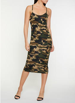 Soft Knit Camo Tank Dress - 3410066499789