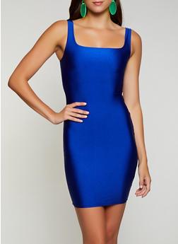 Square Neck Spandex Dress - 3410068195120