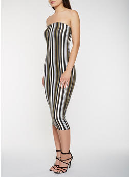 Striped Soft Knit Tube Dress - 3410068510133