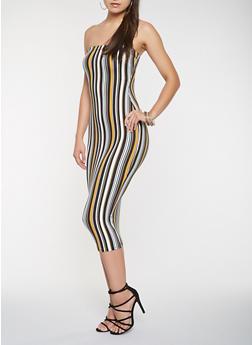 7dfc7ed6d57 Striped Soft Knit Tube Dress - 3410068510133