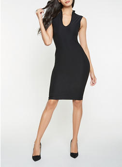 Solid Sheath Dress - 3410068514205