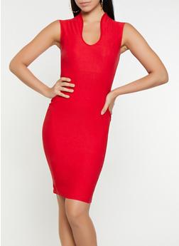 Solid Sheath Dress - 3410068514205