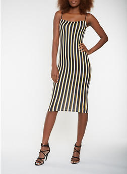 Striped Soft Knit Tank Dress - 3410068514354
