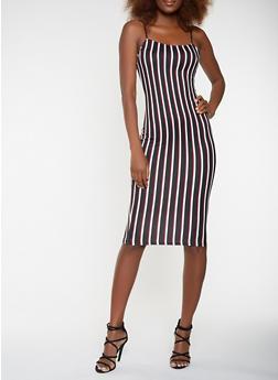Striped Soft Knit Tank Dress - 3410068514354