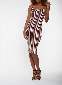 Striped Soft Knit Tank Dress - 3410068514355
