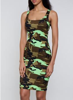 Camo Soft Knit Tank Dress - 3410068515044