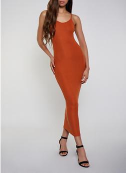 Rib Knit Maxi Cami Dress - 3410068515419