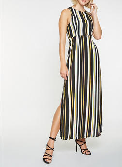 Striped Maxi Dress - 3410069390586