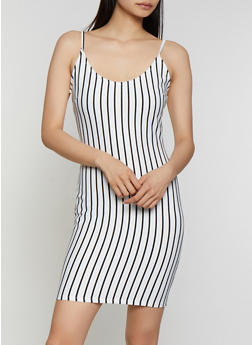 Vertical Stripe Cami Dress | 3410069391002 - 3410069391002