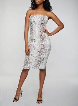Snake Print Tube Dress - 3410069391125