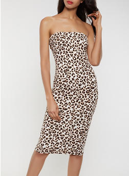 Leopard Tube Dress - 3410069391126