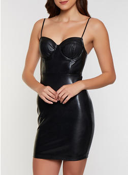 Faux Leather Bustier Dress | 3410069392143 - 3410069392143