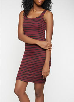 Striped Tank Dress - 3410069394020