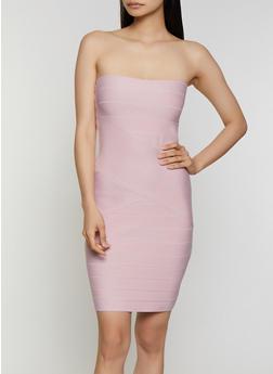 Bandage Tube Bodycon Dress - 3410069394141