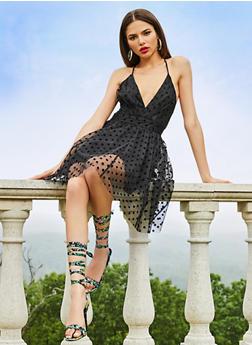 Polka Dot Tulle Skater Dress - 3410069394167