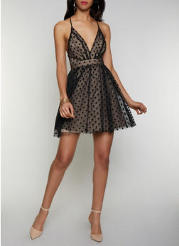 Polka Dot Tulle Skater Dress - 3410069394167