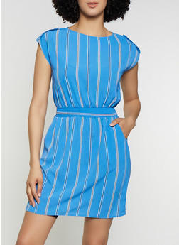 Women Cap Stripe Dress