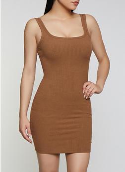 Basic Ribbed Tank Dress - 3410069394208