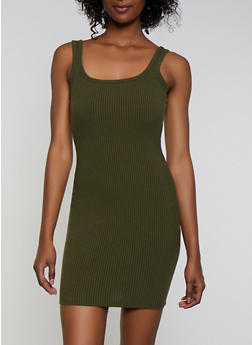 Basic Ribbed Tank Dress - 3410069394208