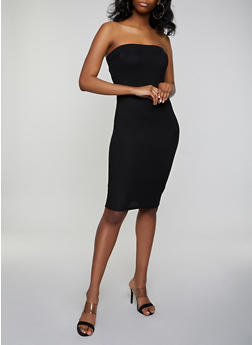 c54ea34d9 Crepe Knit Tube Midi Dress - 3410069394219