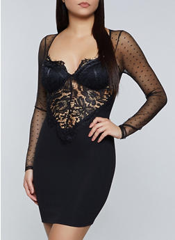 Lace Bustier Dress - 3410069394258