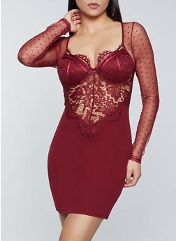 Lace Bustier Dress - 3410069394258