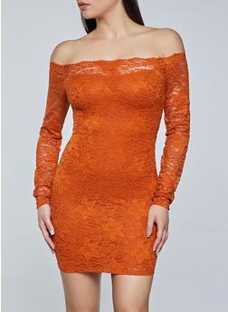 Off the Shoulder Lace Dress - 3410069394262