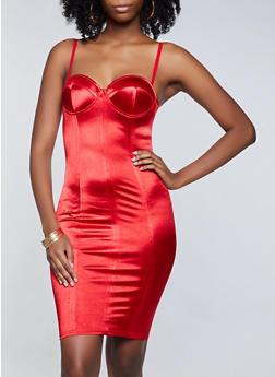 Satin Bustier Dress - 3410069394614