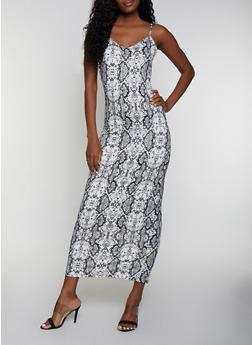 Snake Print Cami Maxi Dress - 3410069395656