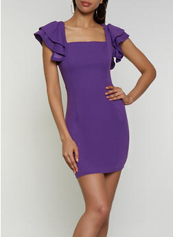Flutter Sleeve Bodycon Dress | 3410069397130 - 3410069397130