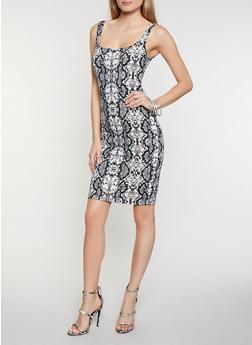 Snake Print Tank Dress - 3410069398965