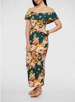cdb3d60e9bb4 Floral Off the Shoulder Maxi Dress - 3410072241452